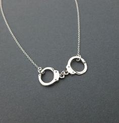 sterling silver handcuff necklace gift for by cravejewelrydesign, $30.00