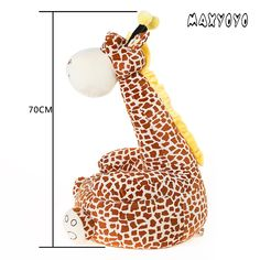 MAXYOYO Super Cute Plush Toy Bean Bag Chair Seat for ChildrenCute Animal Plush Soft Sofa SeatCartoon Tatami ChairsBirthday Gifts for Boys and Girls brown giraffe * Find out more about the great product at the image link. (This is an affiliate link) Cute Plush, Bedroom Chair, Bag Chairs, Gifts For Boys, Bean Bag Chair, Giraffe, Boy Or Girl, Image Link, Super Cute