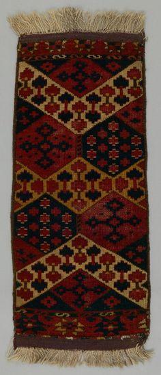 fragment de tapis Ersari Turkmen Turkménistan DATE :1850 - 1870 DIMENSIONS :L 89 cm x W 38 cm