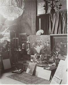 The studio of the artist Peder Severin Kroyer, Copenhagen, Denmark by Swedish National Heritage Board, via Flickr