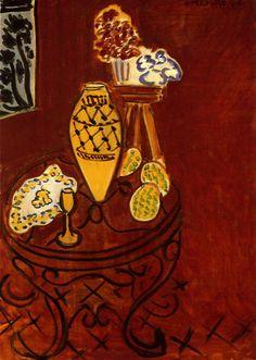 Henri Matisse, Interior in Venetian Red, 1946