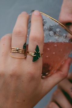 Uvarovite Ring // LILI CLASPE