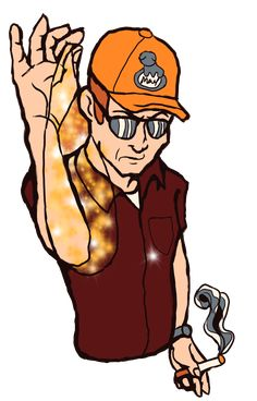 A dale Gribble pin design; Pocket Sand, King Of The Hill, Sibling Rivalry, Screwed Up, Cartoon Shows, Pretty Girls, Sand King, Iron Man, Artworks