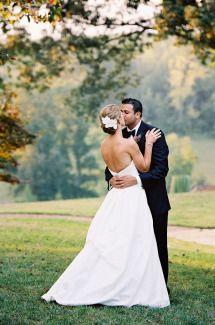 Jen's wedding was featured on Style Me Pretty! Charlottesville Wedding by Jen Fariello Photography #belfiorebridal