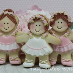 Ballerinas using gingerbread girl cutter