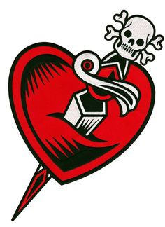Sourpuss Heart & Dagger Back Patch NEW Tattoo Flash Rockabilly Pinup Vintage Broken Heart Drawings, Heart Broken, Roller Derby Clothes, Scary Tattoos, Tatoos, Fabric Embellishment, Embellishments, African Crafts, Tatuagem Old School