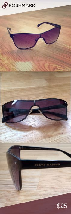 Steve Madden S069 sunglasses 😎 Steve Madden S069 - plastic frame, PC lens, 100% UV protection coating, lens width: 60 millimeters, lens height: 45 millimeters, bridge: 15 millimeters, arm: 140 millimeters. In great condition! Steve Madden Accessories Sunglasses