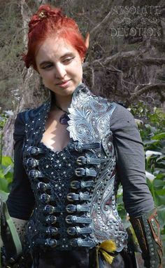 Fully hand carved leather corset armor by Absolute Devotion https://www.facebook.com/pages/Absolute-Devotion/10099221406