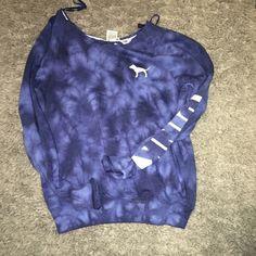 ❌FINAL PRICE❌Pink Tye Dye Sweatshirt. No Trades. Price Firm. PINK Victoria's Secret Tops Sweatshirts & Hoodies