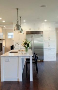 Large White Kitchen with Dining Area