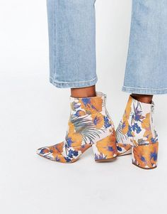 ASOS | ASOS REACH Pointed Jacquard Ankle Boots