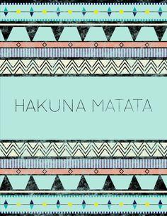 Hakuna Matata, quelle phrase fantastique! Ces mots signifient que tu vivras ta vie, sans aucun souci, philosophie: HAKUNA MATATA!