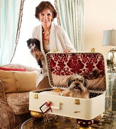 Suitcase Boudoir - Add cute bun feet and a revamped interior to an old suitcase and it's an instant bed for small dogs. Match the interior of the suitcase bed to your own bedroom.  Tip: Be sure to stabilize the top of the suitcase so that it doesn't flop down on the dog.