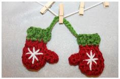 """Mittens Choose from one of these patterns: Click here to download PATTERN Thank you Ashley Berard of """"Khy's Closet"""" for designing these cute little mittens! Please visit her shop and tell her thank..."""