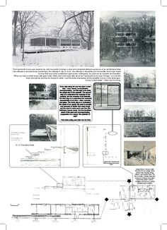 The Farnsworth House designed by Mies Van Der Rohe Do you believe in a God? a Master? or even a forest spirit? Casa Farnsworth, Architecture Concept Drawings, Site Plans, Glass House, Building Design, Case Study, Floor Plans, House Design, Buddha