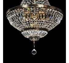 LAMPA wisząca LDP 10505 Lumina Deco metalowa OPRAWA kryształowy ŻYRANDOL crystal antyczne złoto