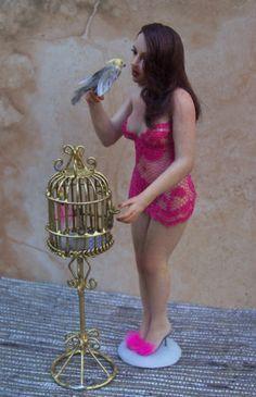 1 12 Scale OOAK Fairy Dollhouse Art Doll Lady Woman Handmade Melissa Drapeau | eBay