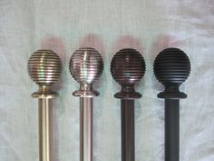 Our Ripple Ball rod sets are available in 3 lengths and 4 finishes. — urbanest living