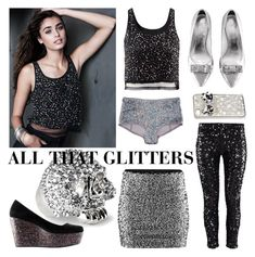 """All that glitters"" by hmlife ❤ liked on Polyvore featuring H&M"
