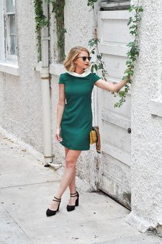 The Camilyn Beth 'Kennedy' Dress in Green   60's Look   FW16