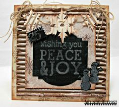 Stamps - Artistic Outpost Snowy Woods, Christmas Chalk