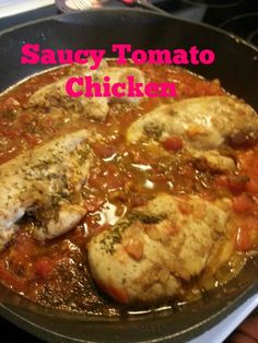 Saucy Tomato Chicken.  21 day fix recipe