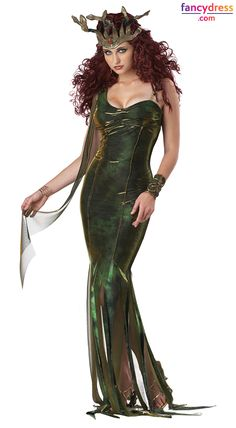 Make your friends green with envy as you snake your way around the party in this beautiful Medusa inspired fancy dress costume. **International Shipping** http://www.fancydress.com/costumes/Serpentine-Goddess/0~1267167
