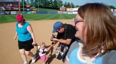 Minor League Baseball Games are a GREAT place for toddlers. Constant Mascot sightings and special activites provide little bodies with lots to see and do! #toddlertrips #diaperdirt #baseball #runthebases