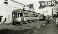 Atlantic City & Shore Railroad, Streetcar #109 in boardwalk setting, Atlantic City, New Jersey, circa 1940s Photographer unknown