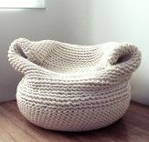 Bdoja Chair    Hand-knitted by a group of women of Mexican-descent in Los Angeles, California.  2,800.00
