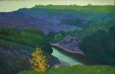 Félix Vallotton (Suisse, 1865-1925), Paysage de la Creuse, 1925, huile sur toile
