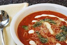 Caitlin's Cooking and More: Tomato Orzo Soup