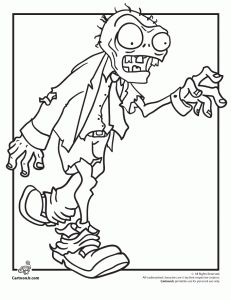 zombies coloring 231x300 Plants Vs. Zombies Coloring Pages