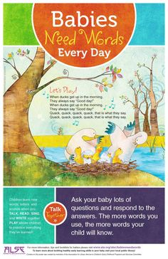 Babies Need Words Every Day: Talk, Read, Sing, Play | Association for Library Service to Children (ALSC)