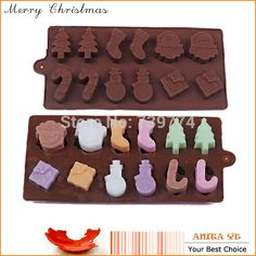 Feliz árbol de navidad de silicona vela azúcar artesanía del Chocolate zoomorfas moldes Kitchen Baking Tray pastelería herramientas de diseño de moldes(China (Mainland))