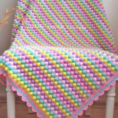 Baby Knitting Patterns, Baby Patterns, Crochet Patterns, Crochet Squares, Crochet Stitches, Crochet Baby, Knit Crochet, Pop Corn, Baby Store