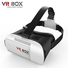 INNORI VR Headset Virtual Reality Glasses Head Mounted Display Portable VR Goggles for Smartphones like iPhone 6 Plus, HTC, Samsung, Sony and other Phones Sizing between and 6 inches with Adjustable Straps & Black and White & Virtual Reality Goggles, Virtual Reality Headset, Reality Apps, Reality Check, Augmented Reality, 3d Vr Box, Focal Distance, 3d Video, Film Video