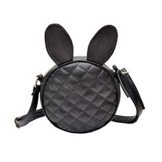 Cheap bag palletizers, Buy Quality bag bag directly from China bag chair Suppliers: Fashion Women Girl Shoulder Bag Kawaii Rabbit Ear Round  Handbag Black Leather Messenger Mini Bag Schouder Tassen Dames#0511