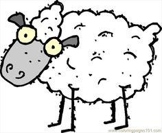 hi Coloring Page - Free Sheep Coloring Pages Free Printable Coloring Pages, Coloring Pages For Kids, Coloring Books, Coloring Sheets, Colouring, Cartoon Lamb, Sheep Vector, Free Vector Clipart, Vector Graphics