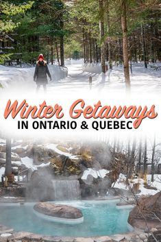 14 Spectacular Winter Getaways in Ontario and Quebec - Ready for winter? Adventures, spas, and cities to visit this winter. Ontario Getaways, Canadian Travel, Canadian Food, Canadian Rockies, Ontario Travel, Canada Destinations, Visit Canada, Travel Usa, Travel Tips