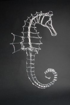 Aluminum Wire Seahorse by Drawn Metal Studios. American Made. See the designer's…                                                                                                                                                                                 More