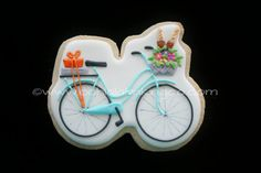 Vintage Bicycle Cookie by oohlalabakingco on Etsy, $ 48.00