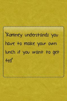 Romney gets it!