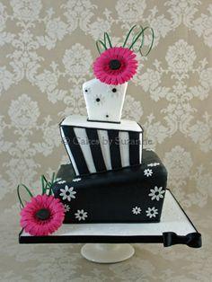Gerbera Wonky Cake