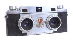 We love how unique and weird this camera looks. The Wollensak 3-D 3D 35mm Stereo Camera has got a pretty niche use too, making stereoscopic images on film.