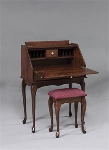 Types of Secretary Desk — Decor Studios Colonial Furniture, Amish Furniture, Steel Furniture, Furniture Ideas, Antique Furniture, Painted Furniture, Queen Anne Furniture, Fireplace Kits, Outdoor Rocking Chairs