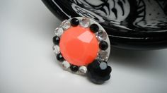 Hey, I found this really awesome Etsy listing at https://www.etsy.com/listing/207308688/orange-black-pin-halloween-pin-halloween