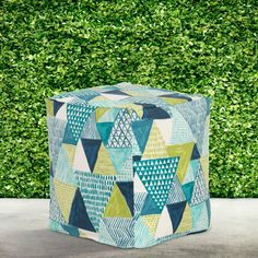 Wrought Studio Howland Pouf Ottoman | Wayfair Nursery Furniture, Furniture Decor, Pouf Ottoman, Screen Printing, Shapes, Studio, Fabric, Prints, Home Decor