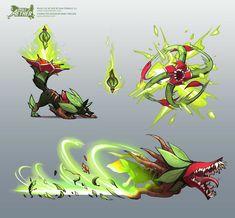 ArtStation - Rivals of Aether -- Sylvanos character design, Marc Knelsen Monster Concept Art, Monster Art, Creature Concept Art, Creature Design, Fantasy Beasts, Fantasy Art, Plant Monster, Pen & Paper, Monster Characters