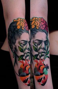 15 Artistic Frida Kahlo Tattoos | Tattoodo.com